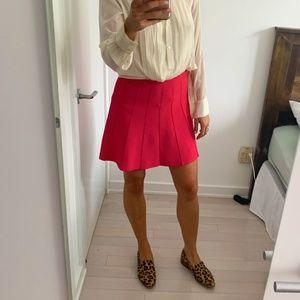 BCBG flared pink skirt